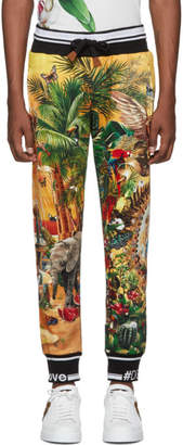 Dolce & Gabbana Multicolor Tropical King Print Lounge Pants