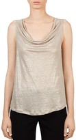 Gerard Darel Metallic Cowl Neck Tank