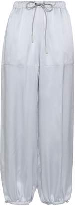 Emporio Armani Hammered Silk-satin Tapered Pants
