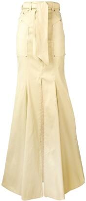 Talbot Runhof Belted Draped Skirt