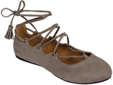 Soda Sunglasses Taupe Lace-Up Noble Ballet Flat