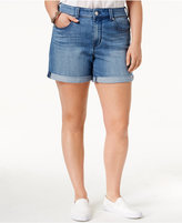 Melissa McCarthy Trendy Plus Size Ripped Denim Shorts