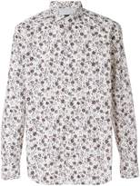 Eleventy floral-print fitted shirt