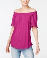 INC International Concepts Popsicle® Off-The-Shoulder Top, Created for Macy's