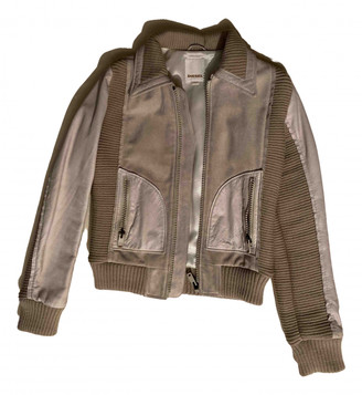 Diesel Beige Leather Leather jackets
