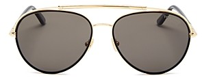 Tom Ford Men's Curtis Polarized Brow Bar Aviator Sunglasses, 59mm
