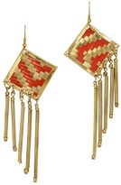 Mela Artisans Lolita in Coral/Gold Earrings
