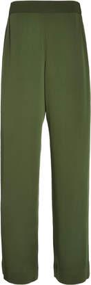 Bouguessa Crepe Straight-Leg Pants