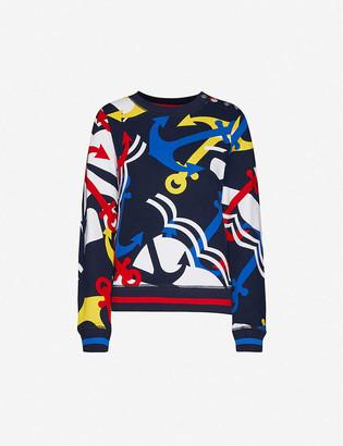 Benetton Anchor-print cotton jumper
