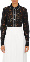Robert Rodriguez Women's Cotton-Blend Lace Pajama Top