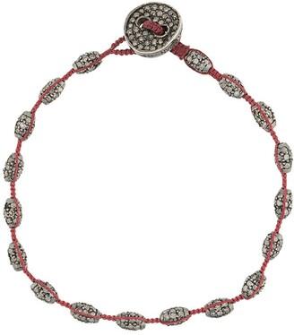 Tateossian Diamond-Button Macrame Bracelet