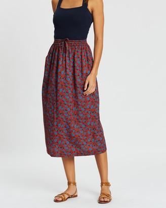 People Tree Dana Paisley Skirt