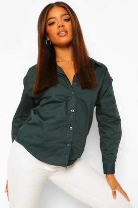 boohoo Woven Shoulder Detail Shirt