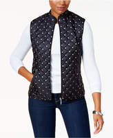 Karen Scott Petite Dot-Print Puffer Vest, Created for Macy's