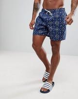 Abercrombie & Fitch Swim Shorts 5 Inch Bandana Print In Blue