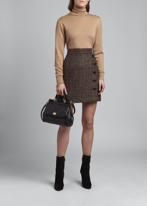 Dolce & Gabbana Fitted Cashmere-Silk Turtleneck Sweater