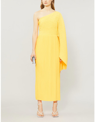 SOLACE London Lila asymmetric woven midi dress