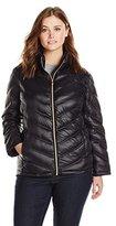 Calvin Klein Women's Plus-Size Lightweight Chevron Packable Jacket