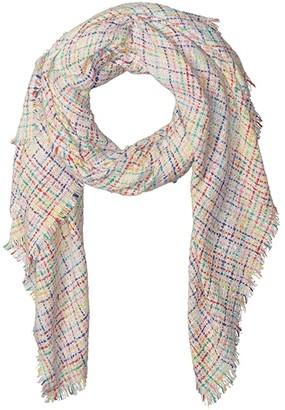 Betsey Johnson Slubby Nubby Blanket Wrap (Ivory) Scarves