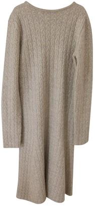 Mansur Gavriel Beige Wool Dress for Women