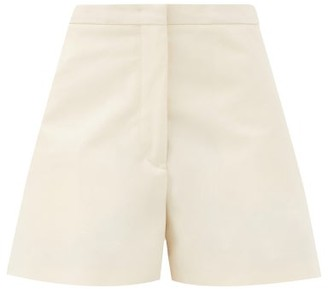 Jil Sander Mattia A-line Cotton Shorts - Cream