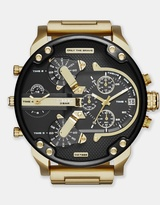Diesel The Daddies Series Gold-Tone Analogue Watch