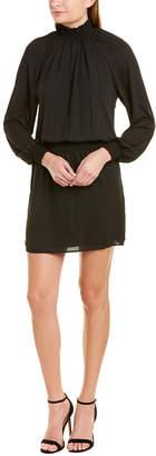 Krisa Smocked Turtleneck Shift Dress
