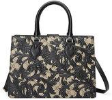 Gucci Arabesque Canvas Top Handle Bag, Black