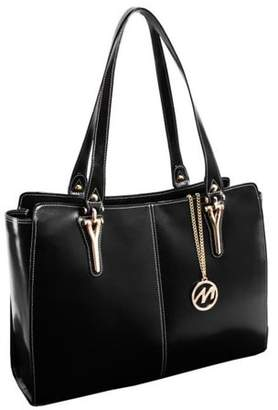 McKlein Usa GLENNA, Ladies' Tote with Tablet Pocket, Top Grain Cowhide Leather, Black (97555)