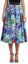 Mary Katrantzou Bowles Floral Print A-Line Skirt
