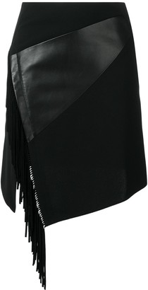 Barbara Bui Side Fringe Fitted Skirt