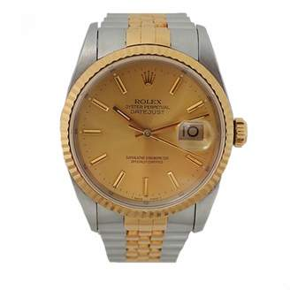 Rolex Day-Date 36mm Silver gold and steel Watches