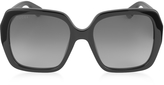 Gucci GG0053S 001 Black Acetate Square Women's Sunglasses
