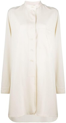 Lemaire Mandarin collar cotton shirt dress