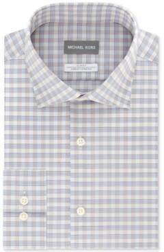 Michael Kors Men's Slim Fit Non-Iron Performance Airsoft Dress Shirt