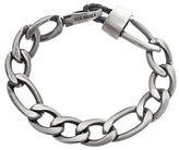 Steve Madden Stainless Steel Oval Figaro Chain Bracelet