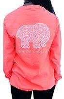 Sodika T-shirt Long Sleeve Elephant Printed O-Neck Tops Sweatshirt