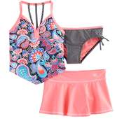 ZeroXposur Girls 7-16 ZeroXposure 3-pc. Printed Tankini Set