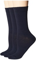 Hue Solid Femme Top Socks 3-Pack