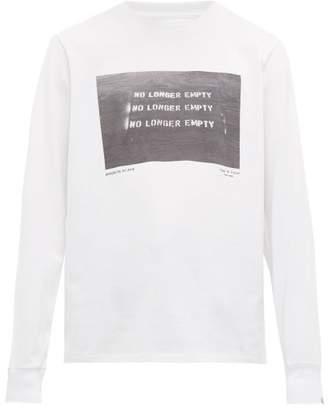 Rag & Bone Logo Print Long Sleeve Cotton T Shirt - Mens - White