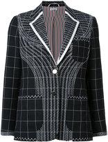 Thom Browne checked blazer - women - Silk/Wool - 40