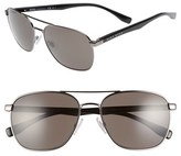 BOSS Men's '0701/s' 57Mm Aviator Sunglasses - Dark Ruthenium Black