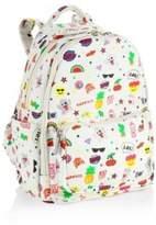 Bari Lynn Emoji Print Backpack