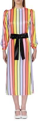 Olivia Rubin Seraphina Rainbow Stripe Midi Dress