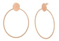 Catherine Malandrino Women's Polished Circle Rose Gold Tone Hoop Earrings