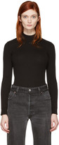 Courreges Black Classic High Neck Pullover