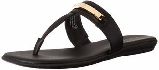 Aerosoles Women's On The Chlock Flip-Flop - Casual Open Toed Sandal with Memory Foam Footbed (9M - Black)