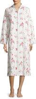 Adonna Long Sleeve Jacquard Zip Robe