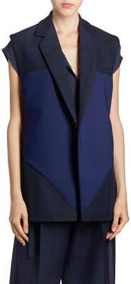 Nina Ricci Blur-Striped Vest Jacket