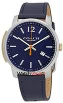 Coach Bleecker Slim Dial Men's Leather Watch 14602343